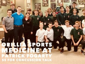 OSM team does concussion talk at Patrick Fogarty SS Nov 2017