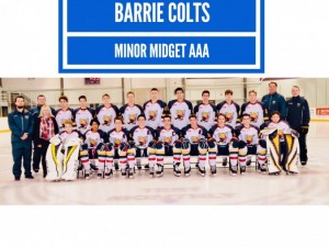 Nick White on Colts Minor Midget AAA bench staff